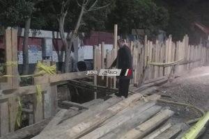 رئيس محلية دمنهور يتفقد اعمال الصرف الصحى