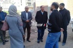 رئيس محلية دمنهور يتابع حملات النظافه بارض ادمون