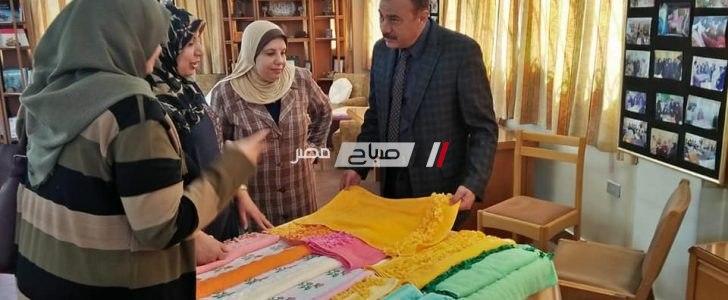 وكيل وزارة التضامن الاجتماعى بدمياط يتفقد معرض أعمال جمعية المرأة والتنمية
