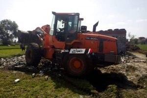 رئيس محلية الزرقا بدمياط: التصدي لحالات تعدي علي الأراضي الزراعية في المهد بمساحة 330م2