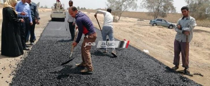 استكمال أعمال الرصف بقرية شباس الملح بدسوق بتكلفة 500 ألف جنية