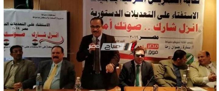 مكتبة مصر العامة بدمياط تستضيف مؤتمر لشرح مواد التعديلات الدستورية