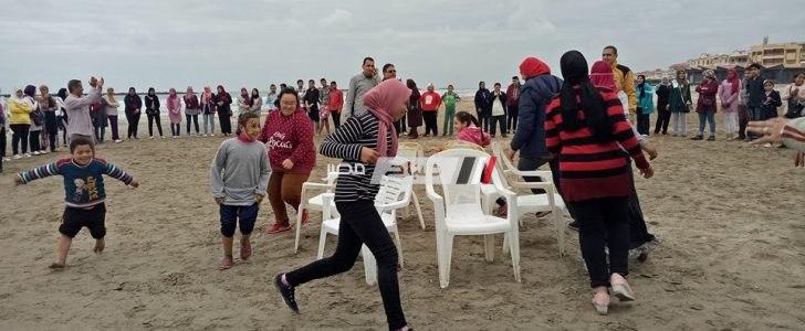 انطلاق فاعليات المهرجان الترفيهي لمكاتب ذوي القدرات بمدينة رأس البر