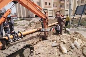ربط خط الغاز الرئيسى بالخطوط الداخلية لكفر الشيخ