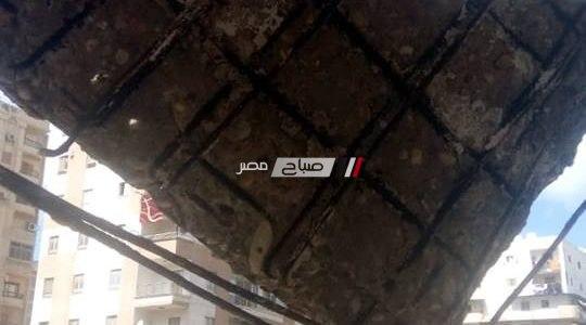 بالصور انهيار شرفة عقار بمنطقة المنتزه بالإسكندرية