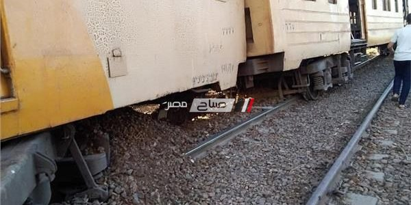 إصابة 25 مواطن فى حادث انقلاب قطار كفر الشيخ