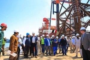 الانتهاء من تصنيع منصة حقل غاز بلطيم تمهيدا لبدء نقلها عن طريق البحر