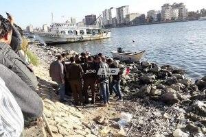 النيابة تصرح بدفن جثة شاب عثر عليه الاهالي بجوار مياه النيل بدمياط .. ننشر التفاصيل و الصور
