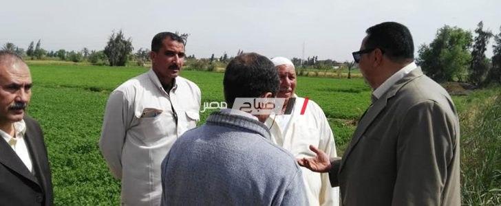 وكيل وزارة الزراعة بدمياط يتفقد مزارع كفر سعد و يشدد على خدمة الزراع