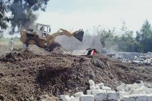 ازالة حالة تعدي على 300 متر ارض زراعية في حملة مكبرة بدمياط