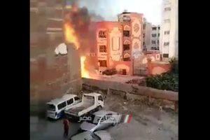 اندلاع حريق هائل في المعهد الديني بدمياط… صور وفيديو