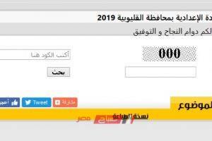 رابط سريع لنتيجة الشهادة الاعدادية محافظة القليوبية 2019 بوابة فيتو