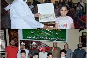 شاب دمياطي ينظم مسابقة القرأن الكريم لتحفيظ الاطفال بقرية السنانية… صور
