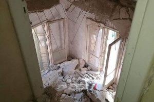 بالصور عقار آيل للسقوط مأهول بالسكان بشارع بورسعيد بالإسكندرية.. والسكان تستغيث بالمحافظ