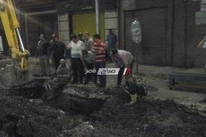 رئيس محلية دمنهور: اصلاح خط طرد الصرف الصحى بمنطقة ابوالريش