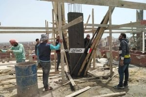 ازالة حالتين بناء بدون ترخيص في حملة مكبرة بمدينة دمنهور
