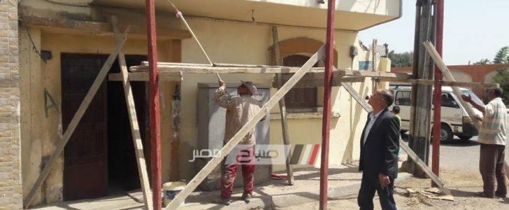 رئيس محلية دمنهور يتفقد اعمال دهان المباني بلون موحد