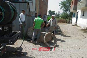 رئيس محلية دمنهور: بدء اعمال تطهير بيارات الصرف الصحى بقرية طرابمبا