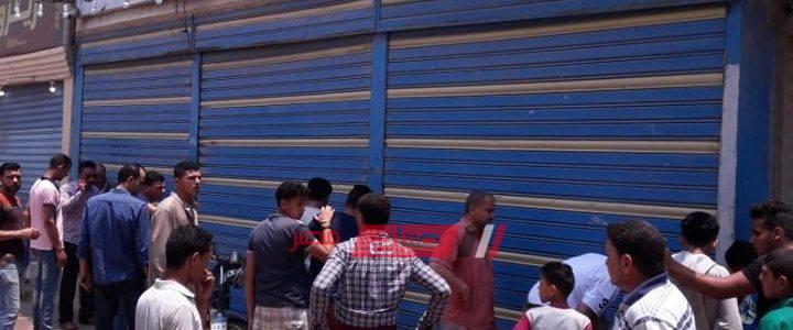 اغلاق 4 محلات تجارية غير مرخصة وتحرير محاضر اعتراض لاصحابها بدمياط