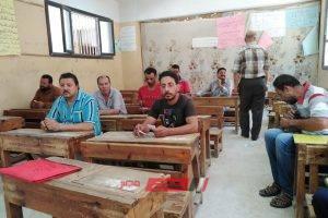 عقد امتحان لمحو الامية بمدرسة الرحامنه الابتدائية بدمياط