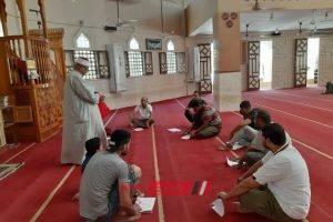 الأوقاف بدمياط تعقد امتحان فوري لمحو الامية بالمسجد الكبير بسيف الدين