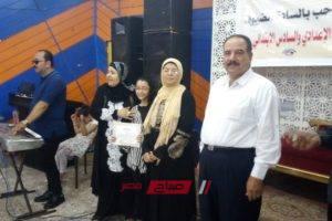 تنظيم حفل لتكريم أوائل الطلبه الشهادات الاعدادية والابتدائية بمدينة الزرقا