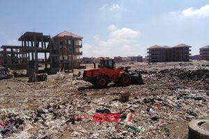 شن حملة جديدة لازالة اكوام القمامة واشغالات العرب بمنطقة الامتداد العمراني برأس البر