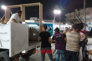 شن حملة مكبرة لازالة اشغالات شوارع النيل والاسواق برأس البر