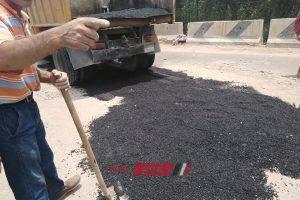 إستكمال رصف وتجميل كورنيش مدينة بلطيم وإزالة مبنى مخالف على مساحة 450 متر