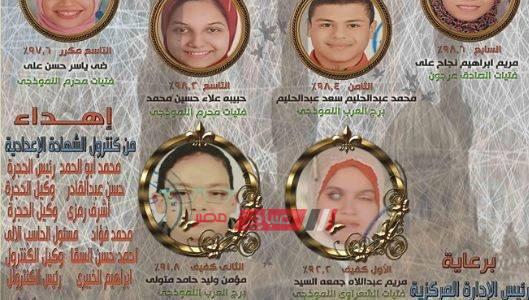 بالاسماء أوائل الشهادة الاعدادية الأزهرية للمكفوفين محافظة الاسكندرية