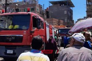 إخماد حريق نشب داخل عقار سكني في دمياط دون خسائر بشرية