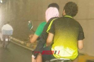 تداول فيديو لفتاة الدراجة البخارية مع شقيقيها بعد ادعاء خطفها بالإسكندرية