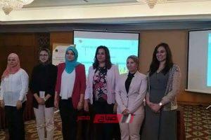 محافظ دمياط رئيسة فرع شبكة النساء المنتخبات بأفريقيا فى مصر