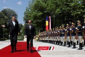 تجهيز مراسم استقبال السيسي في رومانيا بوخارست