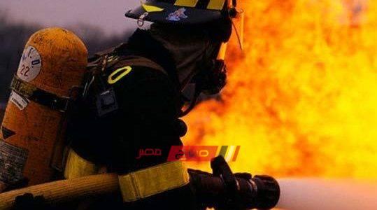 السيطرة على حريق شب بجوار سور مستشفى التأمين الصحي في بنها