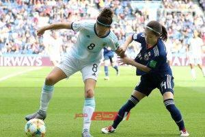 نتيجة مباراة الأرجنتين مع اليابان كأس العالم للسيدات