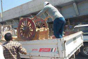 حملة إزالة إشغالات مكبرة أسفل كوبرى العامرية بالإسكندرية