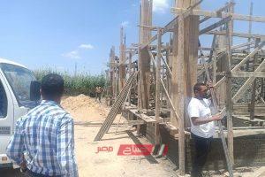 إيقاف أعمال بناء مخالف بحي المنتزه بالإسكندرية