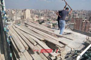 حملات مكبرة لايقاف أعمال بناء مخالف بحى العامرية