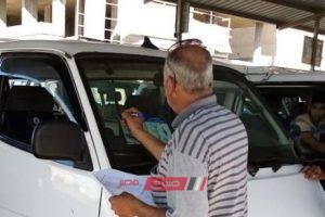 حملات على مواقف دمياط لوضع إعلان بأسعار التعريفة الجديدة لسيارات الأجرة