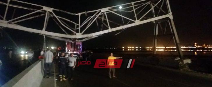 بالصور سقوط كوبرى حديدى بطريق برج العرب بالإسكندرية