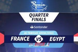 نتيجة وملخص مباراة مصر وفرنسا لكرة اليد