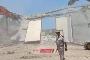 إزالة العشرات من حالات التعدي على أراضي الدولة بدمياط