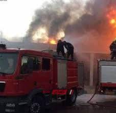 اخماد حريق اندلع فى منزل واصابة شخص في بنى سويف