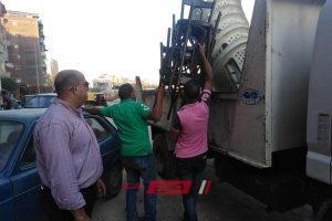 حملات إزالة إشغالات مكبرة بحي وسط في الإسكندرية