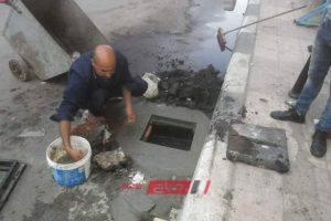 شن حملة لصيانة وتطهير صفايات المطر بشارع عبد السلام الشاذلى بالبحيرة