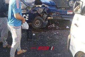 إصابة 3 افراد من الشرطة في حادث مروري مروع على طريق دمياط الجديدة … صور