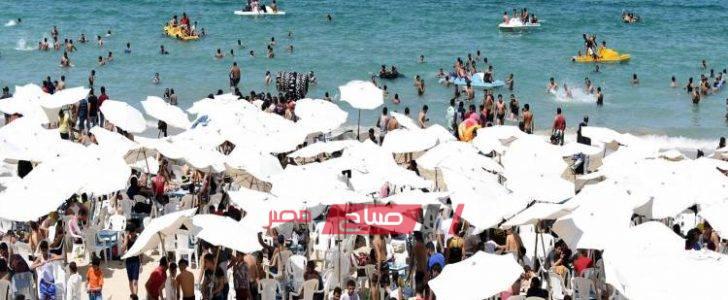 اقبال كبير من المواطنين على شواطئ المحافظات إحتفالا بعيد الأضحى