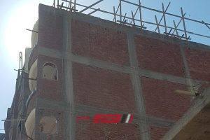إيقاف أعمال بناء مخالف بحى المنتزه