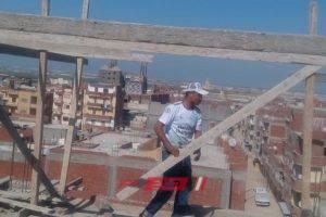 بالصور إيقاف أعمال بناء مخالف غرب الإسكندرية